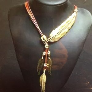 Jewelry - Boho Style Feather Retro Pendant Necklace